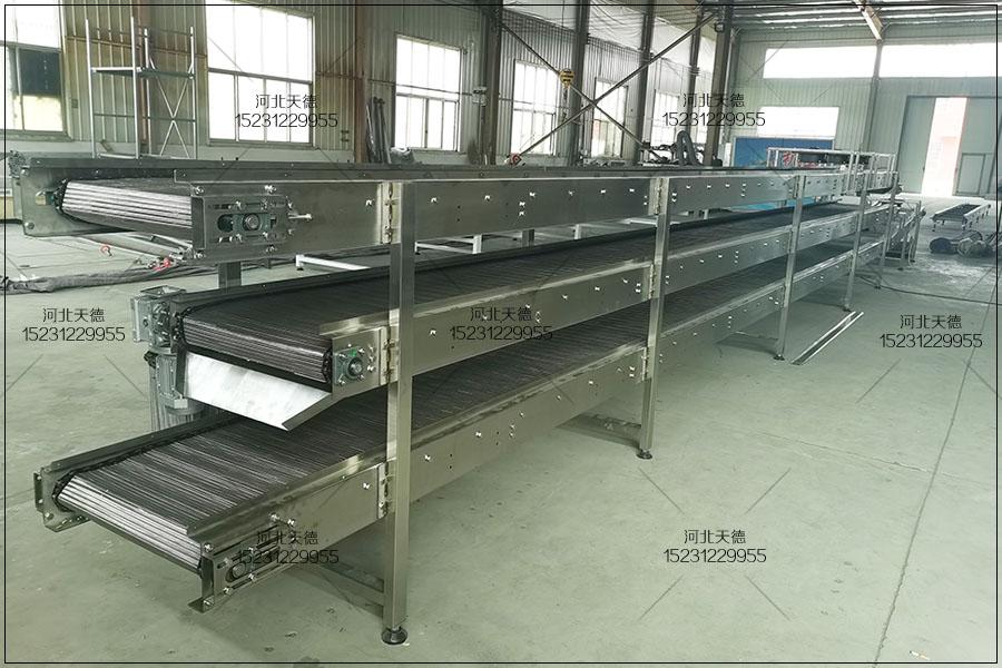 合肥卤牛肉生产线网带输送机操作过程
