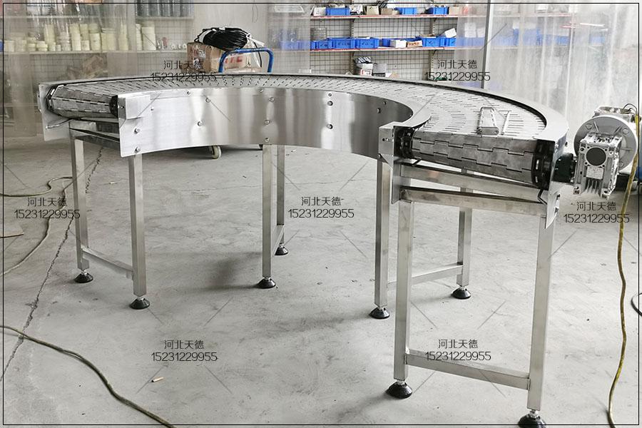 合肥鸭翅解冻流水线链板输送机的介绍
