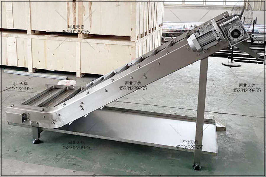 福建带挡边提升不锈钢链板机订单通知