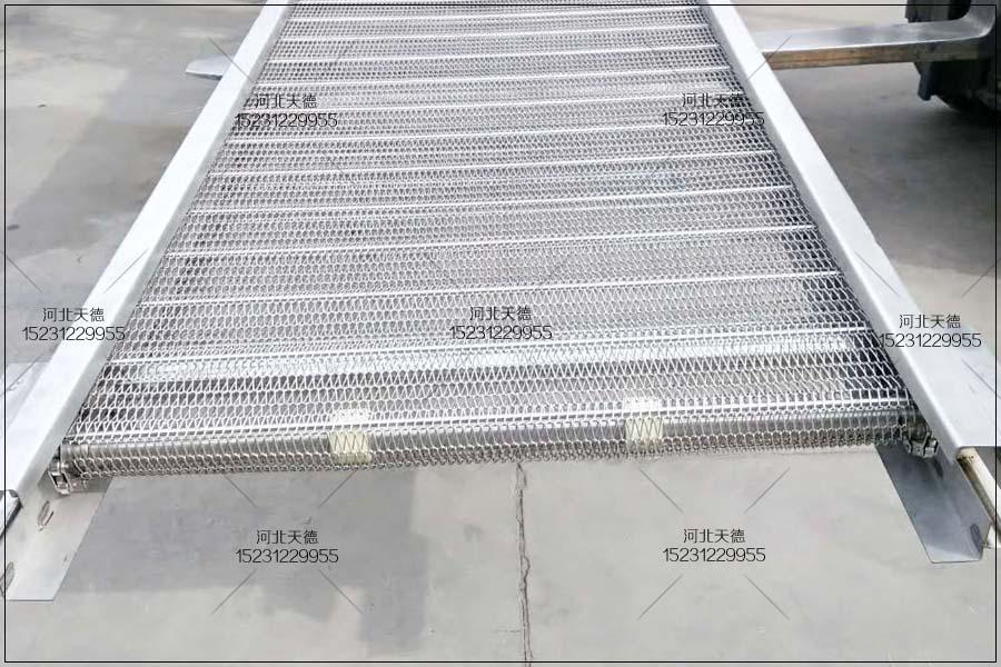 火锅底料流水线网带提升输送机
