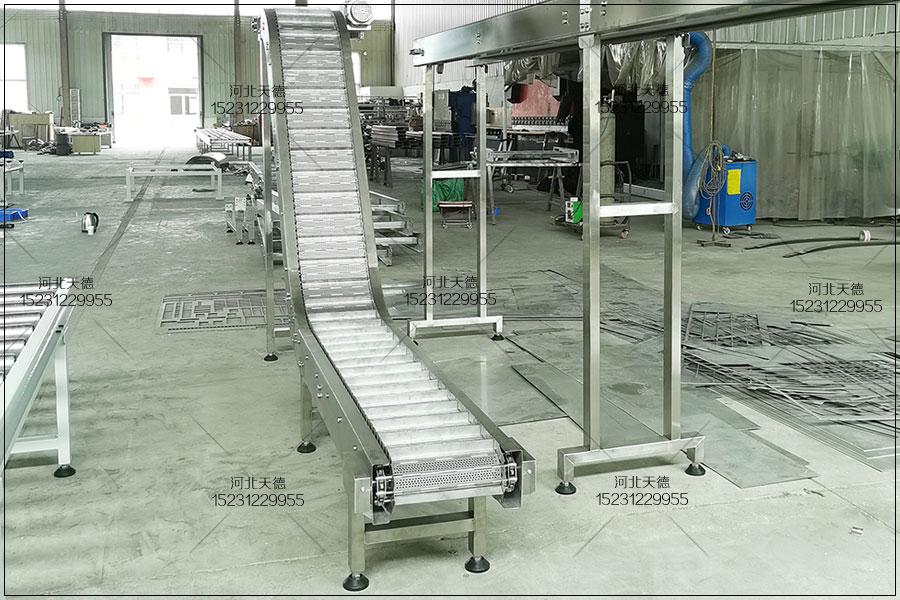 生活垃圾分拣重型链板输送机|...