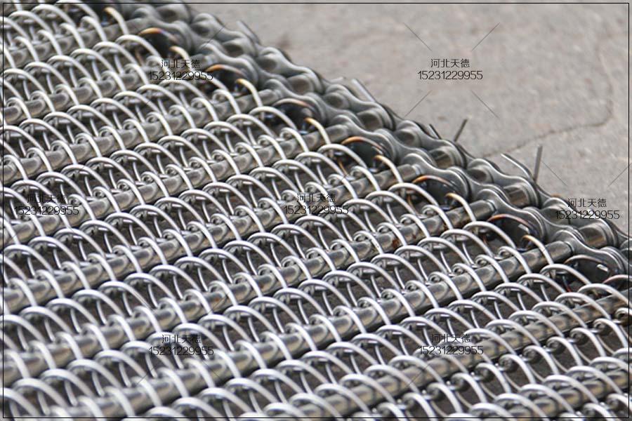 喷涂生产线钢丝编织链条输送带...